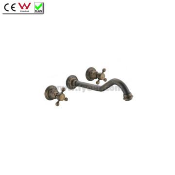 Dule Handle Настенный античный латунный смеситель для ванной (QH001-22A)