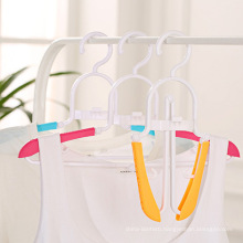Folding clothes hanger plastic folding clothes hanger travel hanger