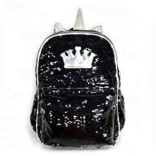 New Cute LED Unicorn School Bag Glitter Reversible Sequin Backpack For Kids
