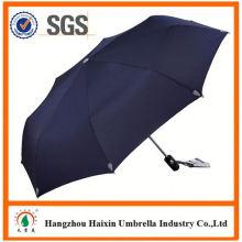 Professional OEM Fabrik liefern roten Regenschirm mit Holzgriff mit krummen Handgriff Falten