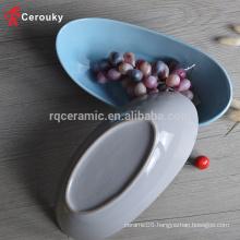 FDA & SGS approved ceramic fruit bowl custom fruit dish / bowl