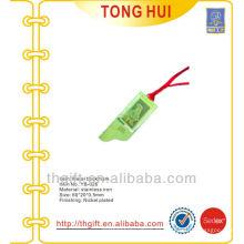 Pollo grabado logotipo metal marcadores w / cinta roja hangtags