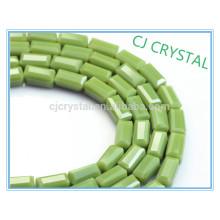 Perles en cristal de cristal, 2015 perles rectangulaires populaires, perles de verre bon marché