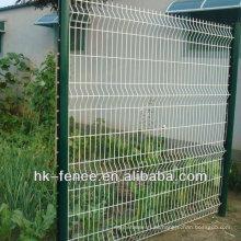 preiswerter einfacher EURO-Verkehr Eisen geschweißter Zaun beschichtete PVC