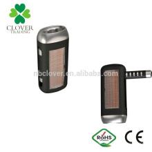 Portátil de plástico mão dinamização 3 levou lanterna solar