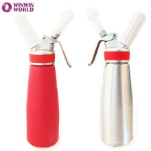 Kitchen tools customized full color whole aluminum whipped cream chargers 1 pint with rubber