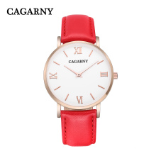 Fashion Roman Leather Wristwatch for Lady