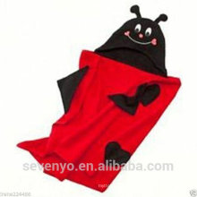 100% bamboo China factory baby hooded towel organic bamboo baby Hooded towel super fluffy premium baby bath towel--Ladybird