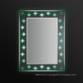 Jnh278 Base Crystal Illuminated Bathroom Mirror with Touch Screen