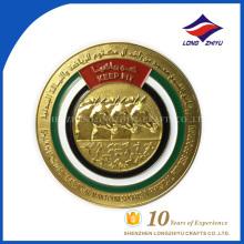 Monedas de oro de la personalidad de la aduana