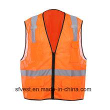 Gilet de sécurité 100% polyester réfléchissant haute visibilité