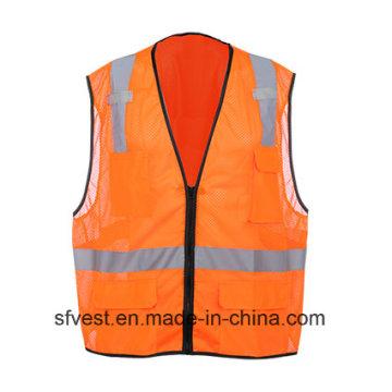 Colete de segurança 100% poliéster refletivo de alta visibilidade
