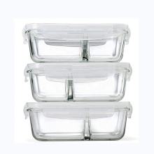 27oz 760ml microwave safe Glass Food box glass Meal Prep Containers with airtight Locking Lids