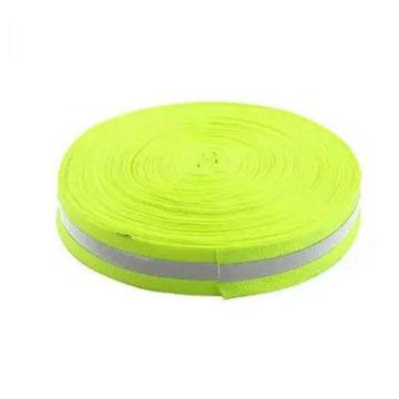 Fita reflexiva da segurança de prata verde da largura do comprimento 2.5cm de 45m