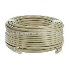 CAT 6 Cable Ethernet UTP RJ45 RJ 45 Red de alambre - 100 FT Gris