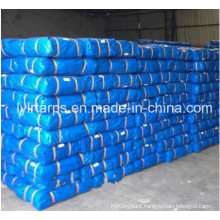 China Factory Supply Blue Finished Tarpaulin with Gromment, Poly Tarp Sheet