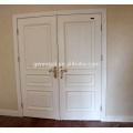 CE certificated hinge swing interior white double wood door