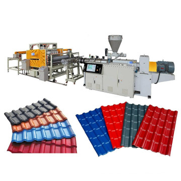 Línea de producción de azulejos para techos vidriados PVC + ASA