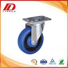 6 inch middle duty swivel caster rubber wheels
