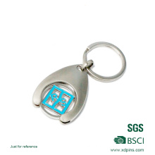 Promotional Zinc Alloy Trolley Token with Coin Clip