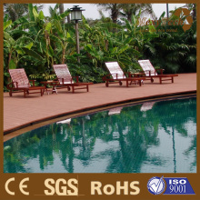 Waterproof Wood Plastic Composite Decking for Swimming Pool Decking