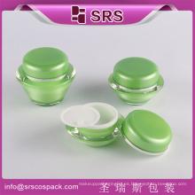 Frasco de plástico cosméticos de lujo del envase, frasco del skincare, frasco arylic