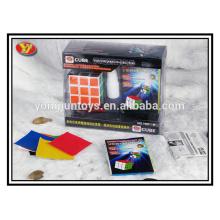 Alta calidad promocional regalo mágico rompecabezas cubo plástico juego