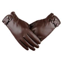 Men's Fashion Autumn And Winter Warm PU Gloves