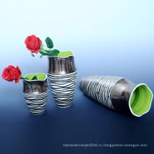 Скидка Индивидуальные фарфора ремесла Дешевые подарки керамические вазы для цветов (B131)