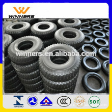 Wheelbarrow rubber tyre 2.50-4 with lug pattern