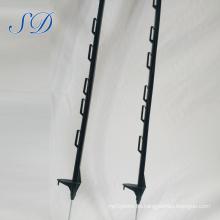 Poste plástico de la cerca del polietileno, poste de la cerca polivinílico eléctrico, paso plástico en postes de la cerca polivinílicos