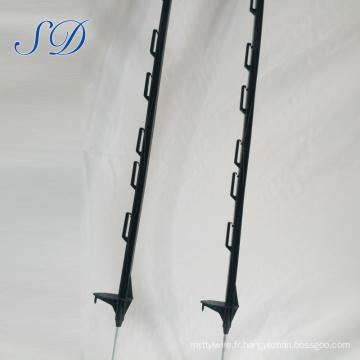 Poteau en plastique de barrière, poteau électrique de clôture de Step-In, étape en plastique dans les poteaux de barrière de poly