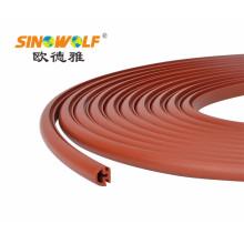 Borda de borda plástica do perfil do PVC para a mobília