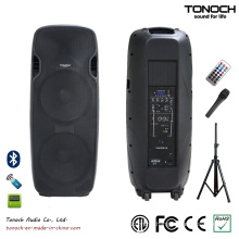 Popular Dual 15 Inches Plastic Loudspeaker with Battery