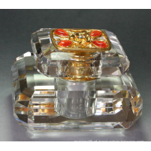 Fino cristal claro carro e quarto ar perfume garrafa presente (jd-qsp-125)