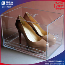High Transparency Acrylic Shoe Display Case/Acrylic Shoe Boxes