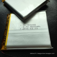 Shenzhen Battery 906065 3.7V 4000mAh Li-Polymer Rechageable Battery
