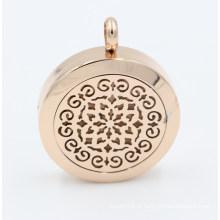 Chegada nova Custom Made Oil Difusor Medalhão Pingente para Colar de Jóias