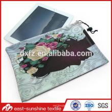 Benutzerdefinierte gedruckte microfiber elektronische Tablette Beutel Tasche, Microfaser Drawstring Gläser Tasche
