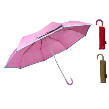 Piping Print Compact Aluminum Light Umbrella (YS-3FM21083945R)