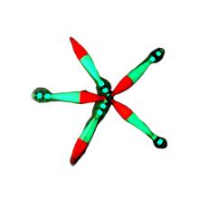 Plantilla brillante del calamar plástico del resplandor oscuro FSQL020 los 7.6cm los 10.2cm
