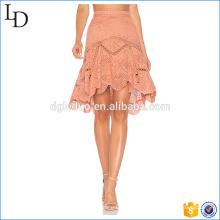 Irrégularité fond dentelle jupe mode dames élégantes jupe costume