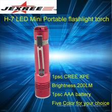 Rechargeable-lampe de poche cree led lampe torche portable 200lm