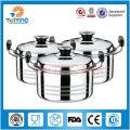 casserole industrielle durable d'acier inoxydable