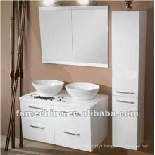 Armário de banheiro de madeira branca / vaidade / mobiliário