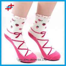 Fresh Cute Pattern Sublimation Knitted Girls Socks For Wholesale