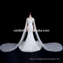 Роскошный Длинный Поезд С Плеча Милая Русалка Фиштейл Свадебное Платье Для Новобрачных