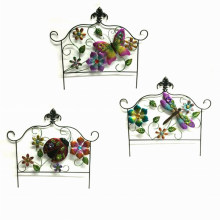 3 Asst Garden Decoration Square Metal Spring Fence Craft