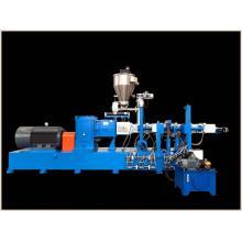 Laboratório de máquinas de tubos de perfil de PVC extrusora de plástico de dois parafusos