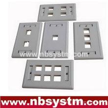 1 2 3 4 6 Anschlüsse Face Plate, Größe: 70x115mm